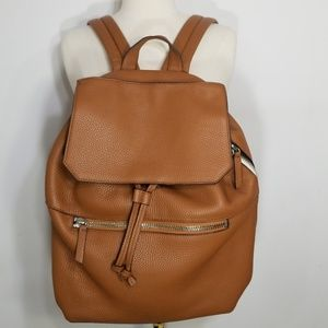 Uri Minkoff Tan Leather Drawstring Backpack